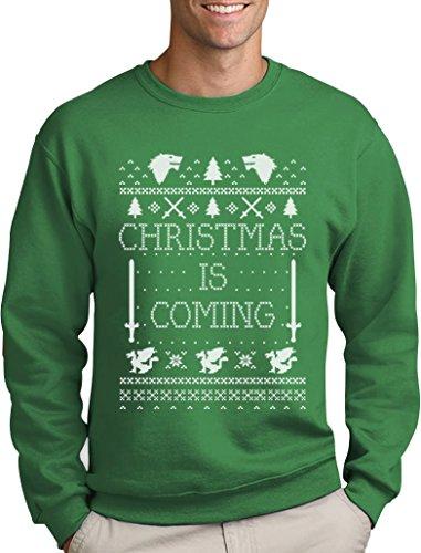 Christmas is Coming - Weihnachtspullover Männer für GOT Fans Sweatshirt Large Grün