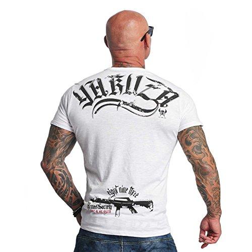 Yakuza Original Herren Armed Society T-Shirt Weiß