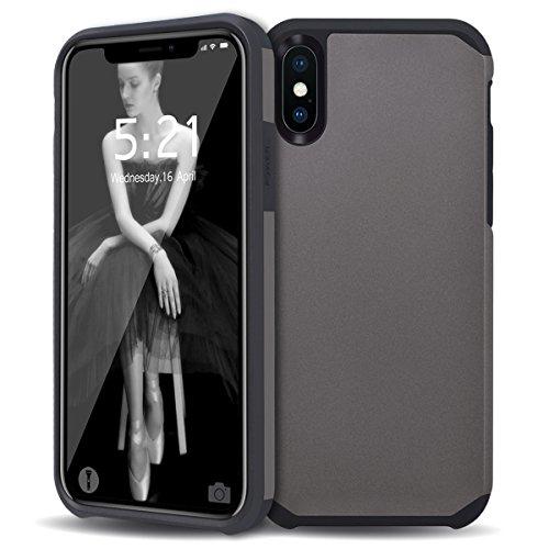 WE LOVE CASE Coque iPhone X, Souple Gel Coque iPhone X Silicone Motif Fine Coque Girly Resistante, Coque de Protection Bumper Officielle Coque Apple iPhone X Bleu Gris