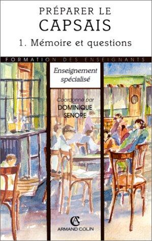 PREPARER LE CAPSAIS T1 (Ancienne Edition)