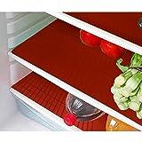 Kuber Industries™ Refrigerator Drawer Mat / Fridge Mat Set Of 6 Pcs (Red)