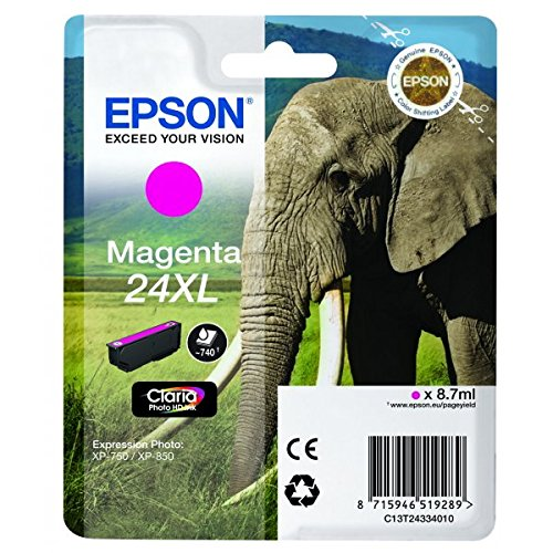 Epson C13T24334012 Cartuccia A.R. RS Claria Photo HD 24XL/Elefante,