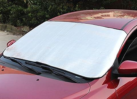 Eximtrade Auto Voiture Pliable Pare-soleil Parasol Neige Glace Couverture Déflecteur Pare-brise Fenêtre Visière Chaleur Rayons UV Réflecteur Protection pour Voiture Camion VUS