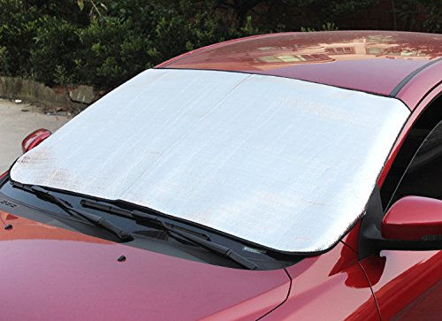 Preisvergleich Produktbild Eximtrade Auto Faltbar Sonnenschirm Schnee Eis Deflektor Windschutzscheibe Fenster Sonnenblende Hitze UV-Strahlen Reflektor Sonnenlicht Schutz für Auto LKW SUV