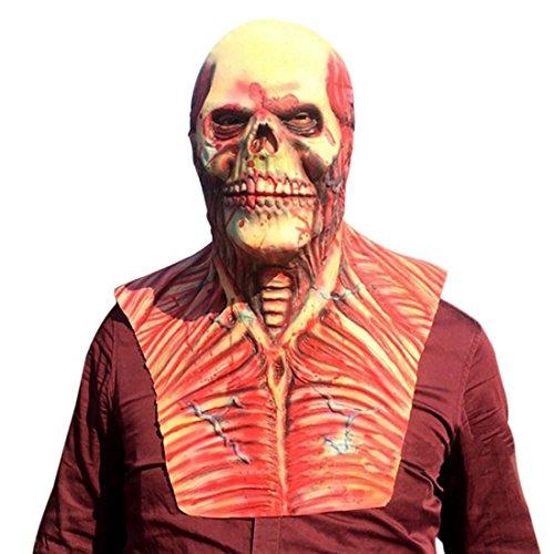 Freahap Halloween Maske Schrecklich Kopfmaske Latex Maske für Party Kostüm #4
