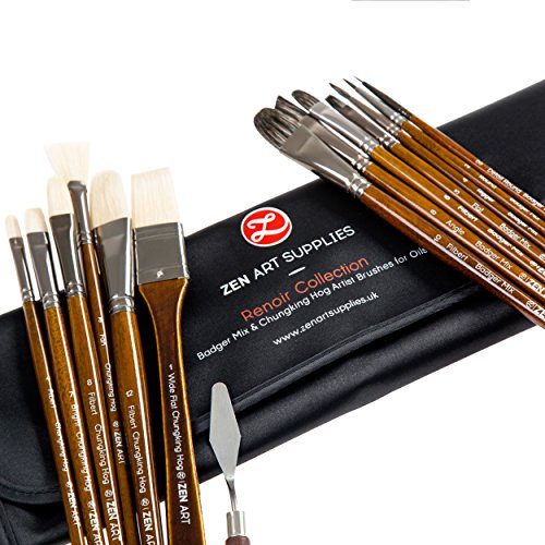 top-quality-artist-paint-brush-set-14-pieces-for-oil-acrylic-gouache-and-watercolor-painting-chungki