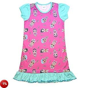 L.O.L Surprise Camicia da Notte Pigiama Maniche Corte Estivo Bambina Confetti Pop Abiti da Notte per Bambine (9-10 Anni, Tutta la Stampa)