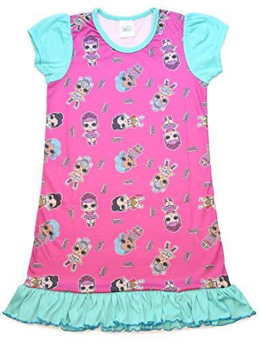 L.O.L Surprise Camicia da Notte Pigiama Maniche Corte Estivo Bambina Confetti Pop Abiti da Notte per Bambine