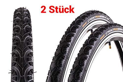 "2 Stück 28\"" Zoll Continental Contact Plus TRAVEL 42-622 Fahrrad Reifen 28x1.6 Mantel Decke Reflexstreifen"