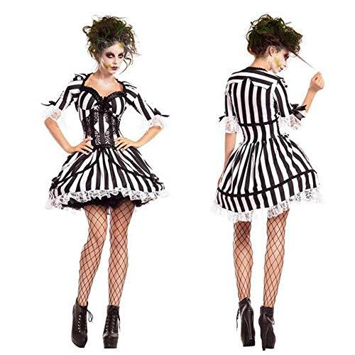 KAIDILA Halloweenkostüm Gespenst Teufel Rolle Spielen Zombie Kostüm Nachtclub Party Anime Cosplay