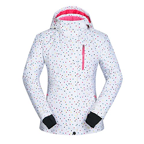 HUA&X Damen Mantel Winter Ski Jacke wasserdicht Winddicht warmen Reißverschluss Outdoor verdickt, D, M