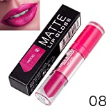 Yazidan Miss Rose Flüssigkeit Lippenstift Feuchtigkeitscreme SAMT Lippenstift Kosmetik Schönheit Bilden Wasserdicht Vampir-Stil Glanz Glänzend Mode Lange andauernd Feuchtigkeitsspendend (#8)