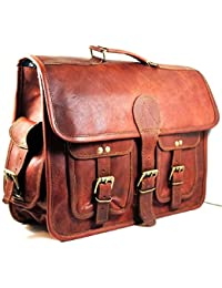 Vintage Handmade Genuine Brown Leather Laptop And Messenger Bag And Office Bag For Znt Bags - B0795T872C