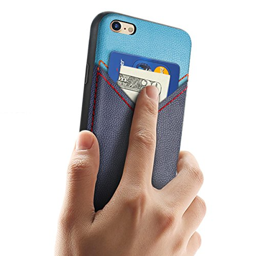 Coque Portefeuille iPhone 7 Plus,Ultra Slim Fine Coque de Protection Cuir Card Slot Wallet Case,Fente pour Carte Housse Etui Premium Coque pour Apple iPhone 7 Plus-Noir iPhone 6/6s Bleu