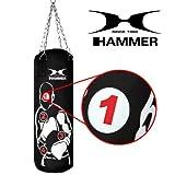 Hammer Boxsack Sparring Pro, Schwarz, 80 cm, 92608 -
