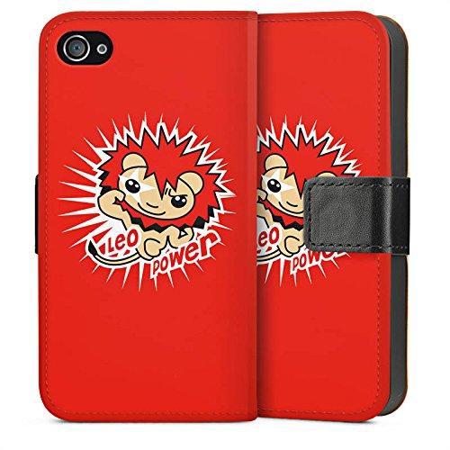 Apple iPhone 5s Housse Étui Protection Coque Lion Étoiles Signes du zodiaque Sideflip Sac