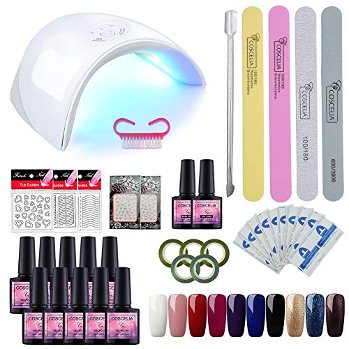 Saint-Acior UV Nagellack Starterset 8ml Led Gel-Lack Maniküre Farbgel uv Lacken Gelnägel Set
