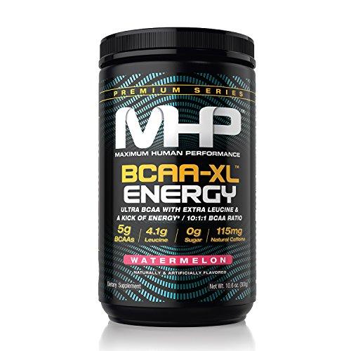 MHP Maximum Human Performance MHP BCAA-XL Energy Ultra BCAA with Extra Leucine 10:1:1 BCAA Ratio (Watermelon, 10.6 oz)