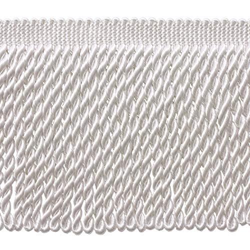 15,2cm lang weiß Edelstahldraht Fransen Trim, Basic Trim Kollektion, Style bfs6Farbe: A1Verkauft von der Yard