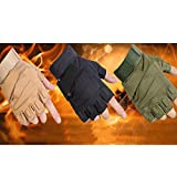 #4: Ocamo Men Outdoor Sport Multifunctional Military Hard Knuckle Half Finger Protective Glove