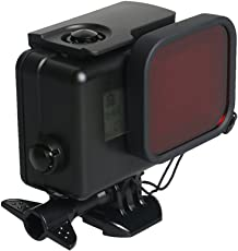 Gopro Hero 6 5 Black Case Waterproof, Waterproof Case Diving Protective Housing Shell 45m with Red Filter for Go Pro Hero 6/5 Action Sport Camera