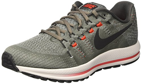 Nike Herren Air Zoom Vomero 12 Laufschuhe, Grau (Tumbled Grey/Black/Pure Platinum/Midnight Fog/Max Orange), 40.5 EU