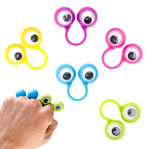 MMRM 1 paquete de múltiples colores de plástico monstruo ojo dedo títeres Wiggle ojos niños regalo diversión