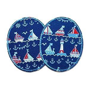 Set 2 Knieflicken Schiff Flicken zum Aufbügeln für Kinder