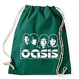 Art T-shirt, Zaino Sacca Oasis Band, Verde