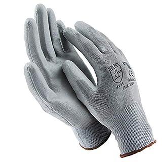 ASATEX 3701 Handschuhe Arbeitshandschuhe GUMMIERT - GRAU Größe 10 / XL (12 Paar)