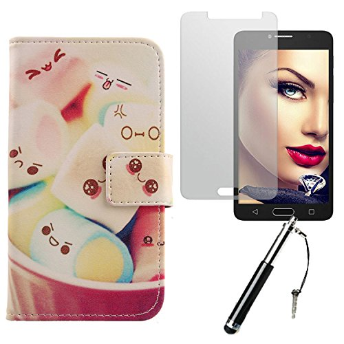 Lankashi Lovely Design 3in1 Zubehör Set PU Flip Leder Tasche Für Alcatel One Touch Pop 4S 5.5