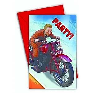6 cartes dinvitation Tintin
