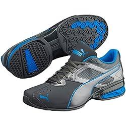 Puma Herren Sneaker Tazon 6 FM, 189873 43 EU, Grau (Asphalt-Electric Blue 19)