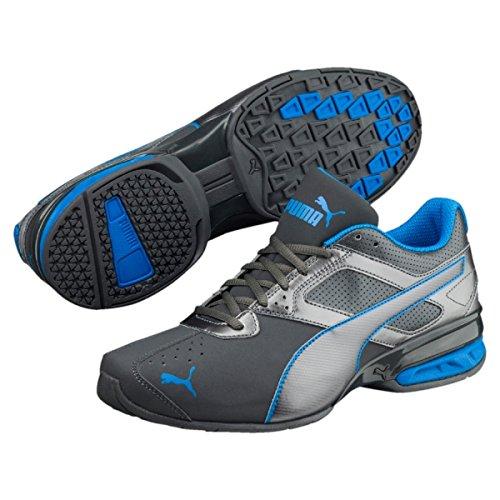 Puma Herren Sneaker Tazon 6 FM, 189873 45 EU, Grau (Asphalt-Electric Blue 19)