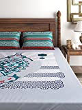 Raymond Cotton Double Bedsheet with 2 Pi...
