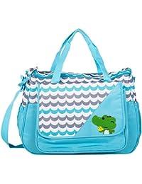 Tinny Tots Baby Diaper Bag (Blue, BAG-DNA-1-050-SKY BLUE)