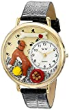 Whimsical Watches Unisex G0130014 Boxer Black Skin Leather Watch