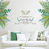 Ogquaton Premium Qualité Amovible Vert Feuilles Mur Autocollant Chambre Papier Peint Mural Decal Home Art Decor