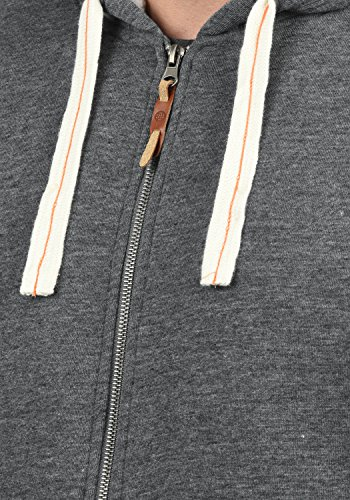 BLEND Ted Herren Sweatjacke Kapuzen-Jacke Zip-Hoodie mit Teddy-Futter aus hochwertiger Baumwollmischung, Größe:M, Farbe:Pewter Mix (70817) - 4