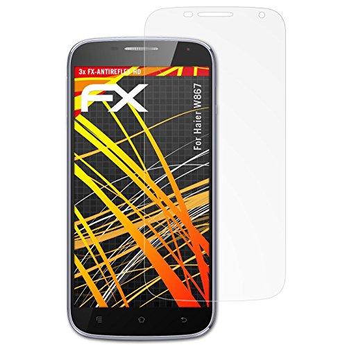 atFolix Schutzfolie kompatibel mit Haier W867 Bildschirmschutzfolie, HD-Entspiegelung FX Folie (3X)