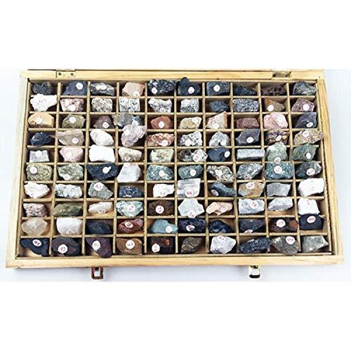 YIXJIAMJ 100-Species/Mineral Rock Specimens Stein Geogeologische Erz Felsen Verschiedene Lehrmittel Ausstellung Lehrmittel