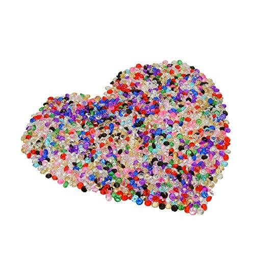 10000 funkelnde Diamanten Dekosteine,KAKOO Glänzende Strasssteine Acryl Kristall Deko Steine 4.5mm Hochzeit Party Kommunion Tisch Konfetti Streudeko DIY CRAFT Basteln (bunt)