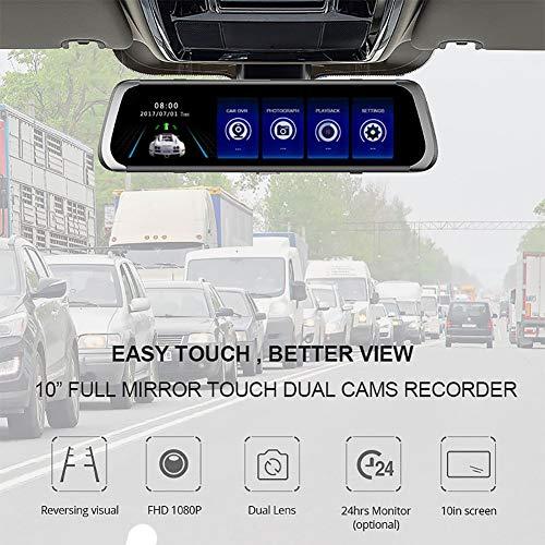 YSHtanj Auto DVR Kamera Recorder 1080P HD Dual Lens Touchscreen Auto DVR Rückfahrkamera Video Kamera Recorder - Dvr-stick