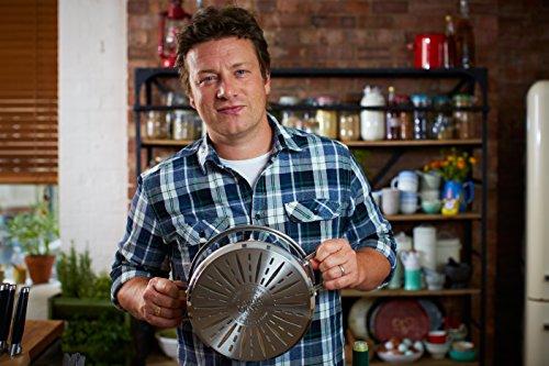Tefal E79144 Jamie Oliver Induction Bratentopf mit Glasdeckel, 20 cm Druchmesser, 3 L, induktionsgeeignet, Edelstahl