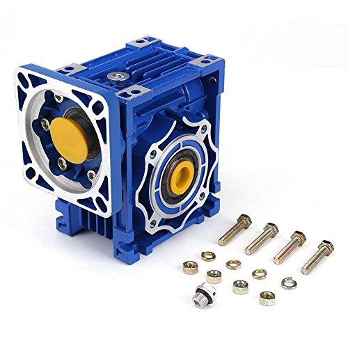 NMRV40 Worm Gear Speed Reducer,NMRV40 Drehzahlreduzierer Untersetzungsverhältnis 100: 1 für den Eingangswellen Schrittmotor 9/11 / 14mm (Worm Reducer Gear)