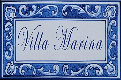 Azul'Decor35 Placa cerámica Nombre casa u Otro Texto