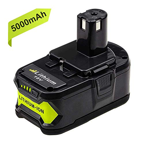 Powayup 18V 5,0Ah RB18L50 Li-ion Batterie de Remplacement pour Ryobi ONE+ P108 P105 P102 P103 P107
