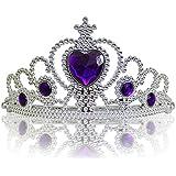 Princesas Disney - Diadema de princesa para niña, color violeta /plateado, 3-11 años  (Katara 1682)