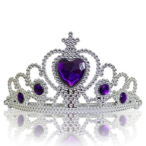 Katara 1682-03 - Mädchen Prinzessin Diadem, silber/lila