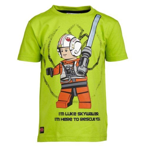 Lego Wear Jungen T-Shirt LEGO Star Wars T-Shirt Luke Skywalker THOR 350, Gr. 152, Grün (848 LIME)